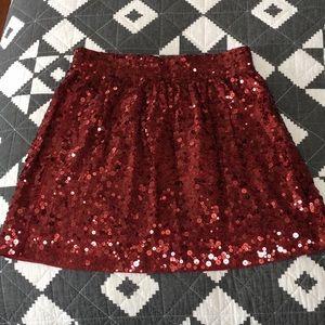 Garnet Hill sequined skirt, size medium